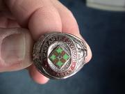 Военный американский перстень серебряный Sterling