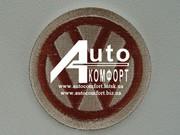 Вышивка логотипа автомобиля Volkswagen (ФольксВаген)