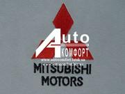 Вышивка логотипа автомобиля Mitsubishi (Митсубиши)